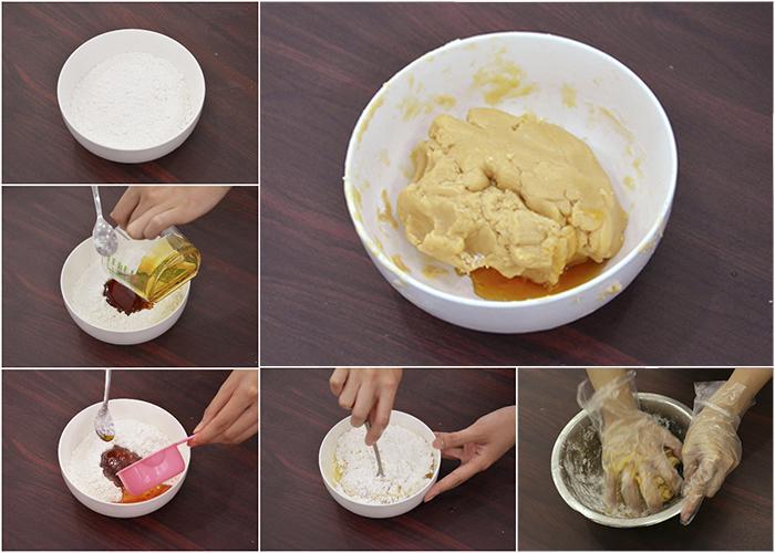cách làm bánh nướng trung thu 25 cách làm bánh nướng trung thu Cách làm bánh nướng Trung thu từ nước đường bánh dẻo cực lạ cach lam banh nuong trung thu 25
