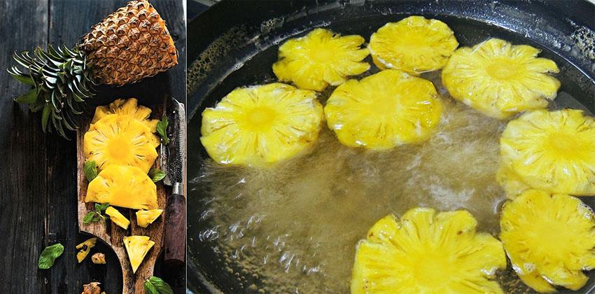 cách nấu nước đường bánh nướng dứa thơm 09 cách nấu nước đường bánh nướng Cách nấu nước đường bánh nướng Trung thu từ quả dứa thơm siêu đơn giản cach nau nuoc duong banh nuong dua thom 09