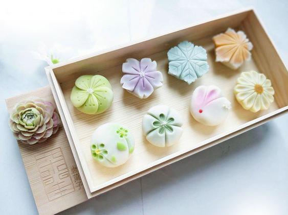 wagashi-sakura-51 wagashi Wagashi – Món bánh ngọt truyền thống Nhật Bản đẹp tựa bức tranh wagashi sakura 51