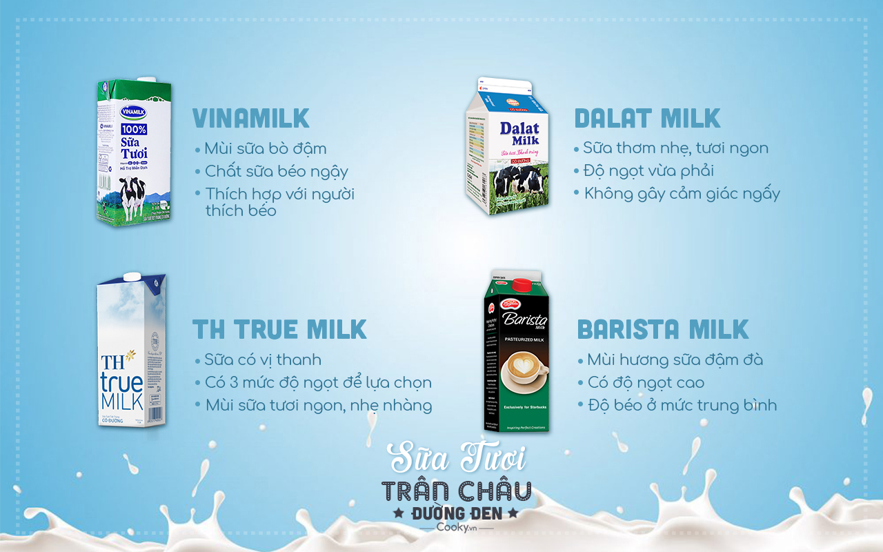 các nguyên liệu làm sữa tươi trân châu đường đen 1 nguyên liệu làm sữa tươi trân châu đường đen Nguyên liệu làm sữa tươi trân châu đường đen bất bại cac nguyen lieu lam sua tuoi tran chau duong den 1