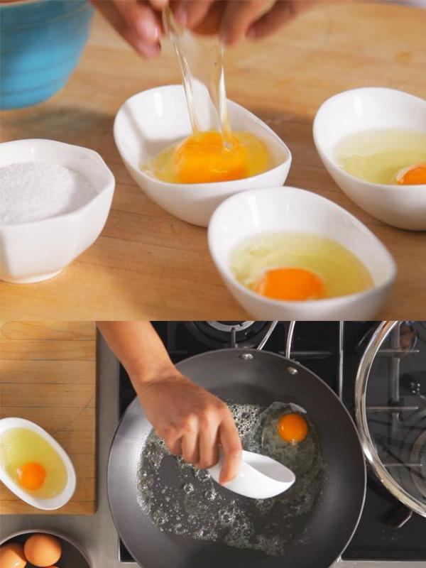 cách chiên trứng 14 cách chiên trứng Cách chiên trứng cực ngon chỉ trong 3 phút ai ai cũng làm được cach chien trung 14