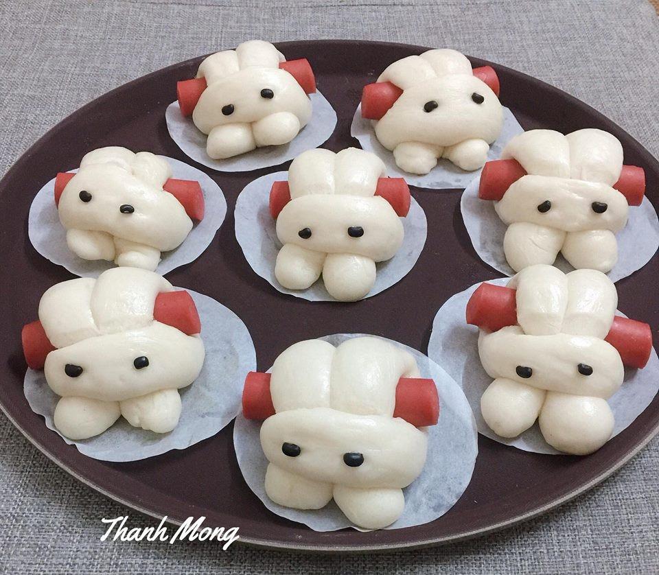 cách làm bánh bao 3 cách làm bánh bao Cách làm bánh bao thỏ cuộn xúc xích cực xinh xắn đến nỗi không nỡ ăn cach lam banh bao 3