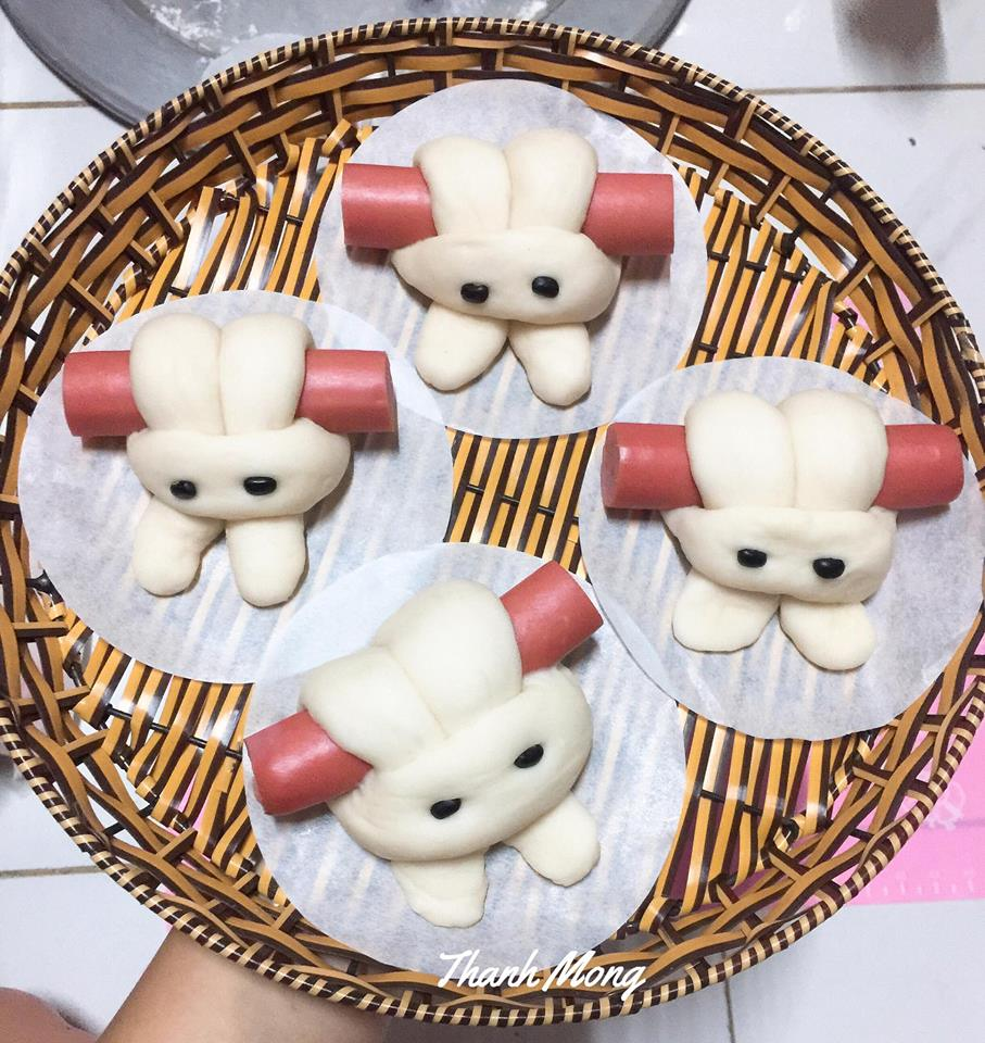 cách làm bánh bao 8 cách làm bánh bao Cách làm bánh bao thỏ cuộn xúc xích cực xinh xắn đến nỗi không nỡ ăn cach lam banh bao 8