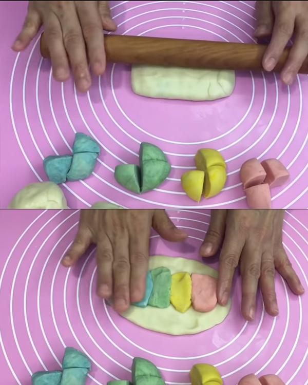 cách làm bánh trung thu cầu vồng 04 cách làm bánh trung thu cầu vồng Cách làm bánh Trung thu cầu vồng ngàn lớp đẹp lung linh cach lam banh trung thu cau vong 04