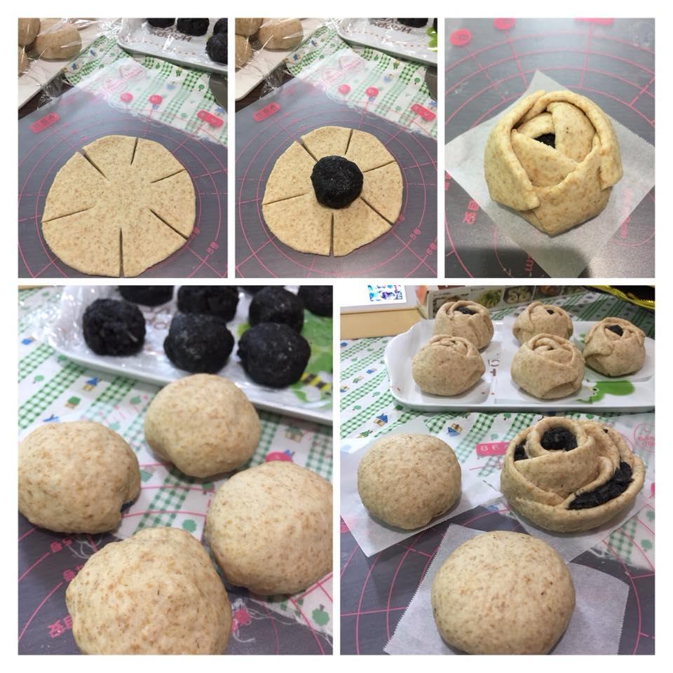 cách làm bánh bao mè đen 1 cách làm bánh bao Cách làm bánh bao mè đen càng ăn dáng càng đẹp cach lam banh bao me den 1
