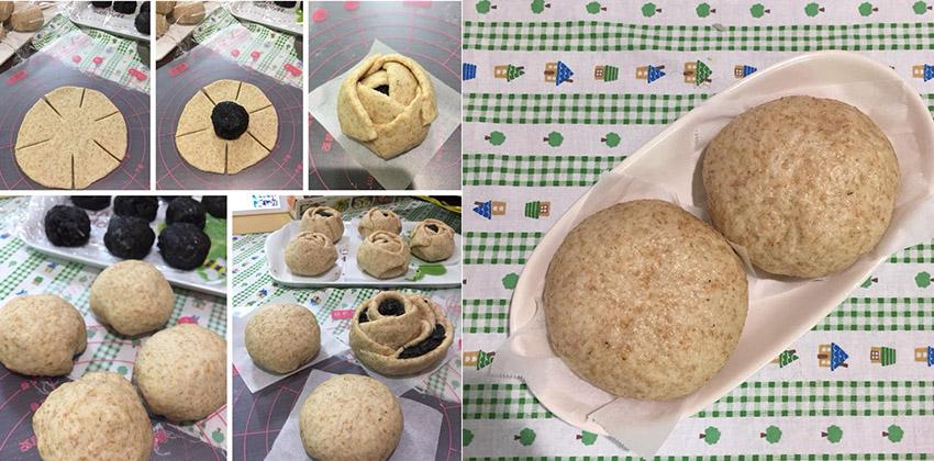 cách làm bánh bao mè đen 6 cách làm bánh bao Cách làm bánh bao mè đen càng ăn dáng càng đẹp cach lam banh bao me den 6