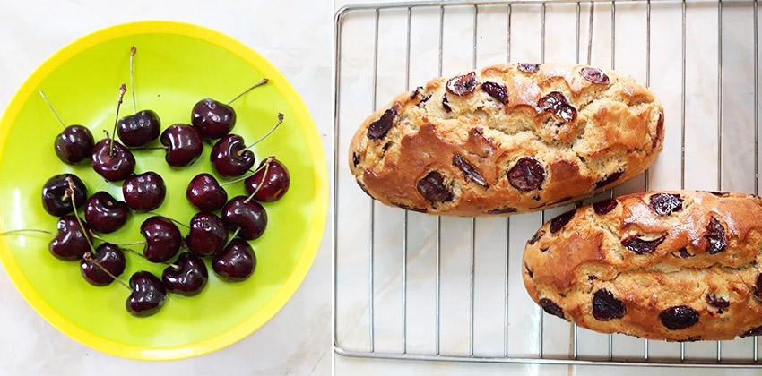 cách làm bánh bông lan 66 cách làm bánh bông lan Cách làm bánh bông lan cherry và chuối ngon đắm đuối cach lam banh bong lan 66 1