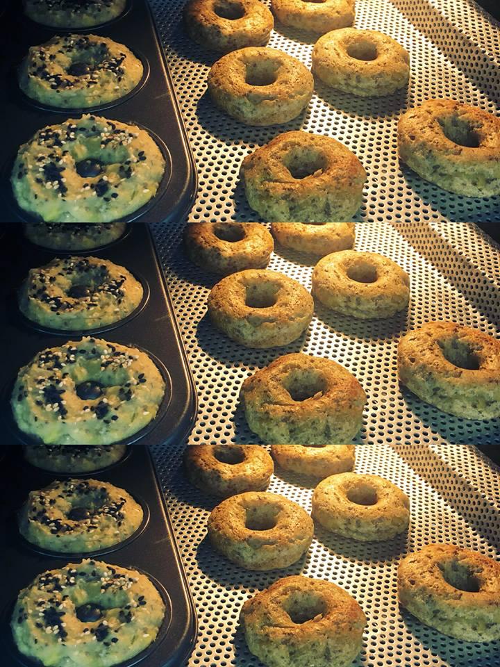 cách làm bánh donut 1 cách làm bánh donut Cách làm bánh Donut khoai lang yến mạch hạt chia ngon và lành cach lam banh donut 1