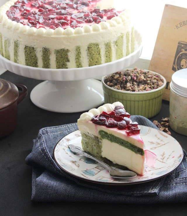 cách làm cheesecake matcha 1 cách làm cheesecake matcha Cách làm Cheesecake Matcha đơn giản mà đẹp không ngờ cach lam cheesecake matcha 1