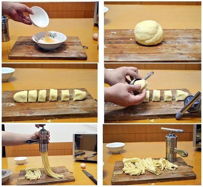 cách làm mì sợi 1 cách làm mì sợi Cách làm mì sợi, bún tươi và chè bánh lọt bằng ống ép mì đa năng ban co the lam mon gi 3