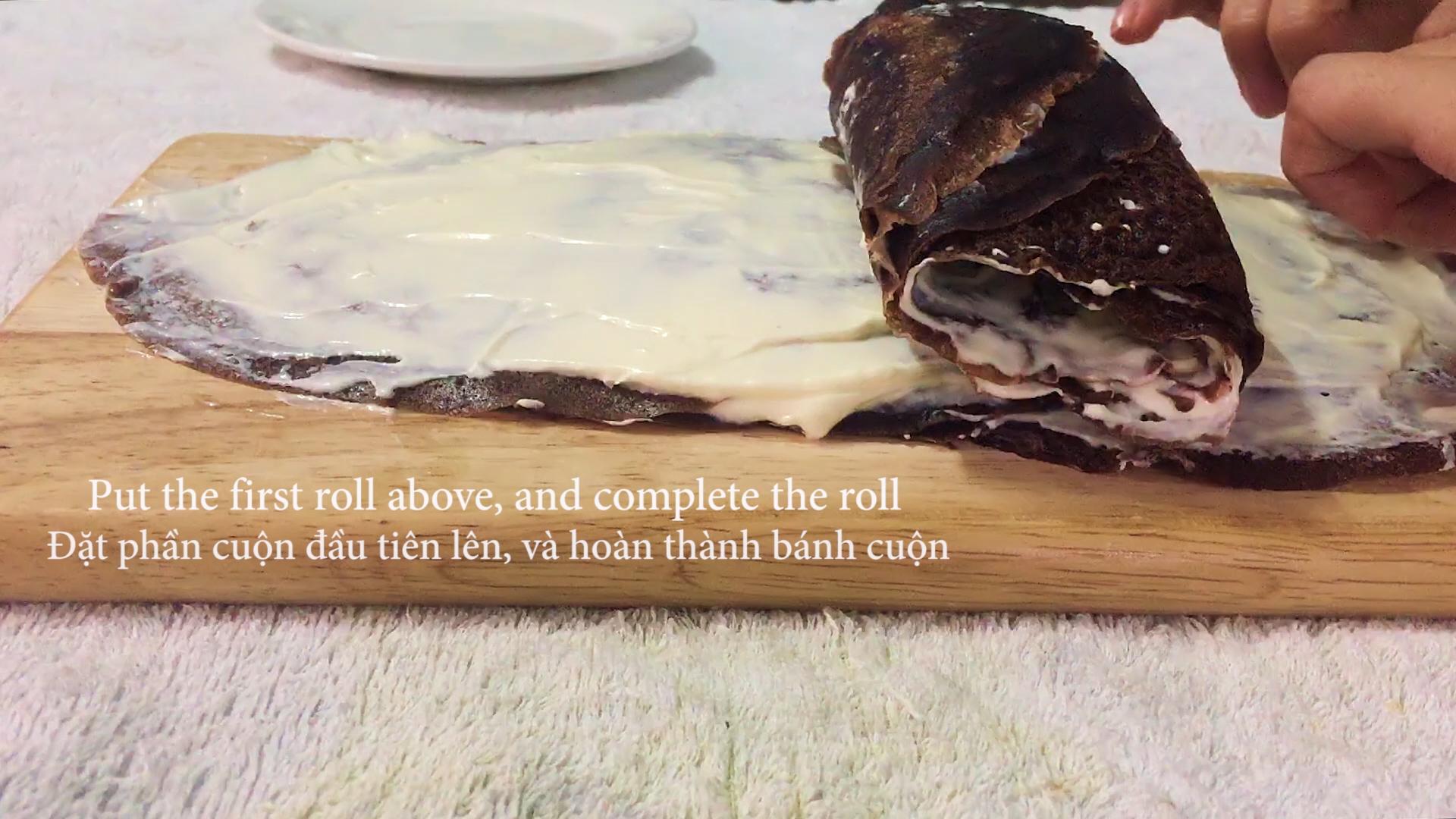 cách làm bánh crepe socola 6 cách làm bánh crepe socola Cách làm bánh Crepe Socola ngàn lớp cuộn kem ngon mãn nhãn cach lam banh Crepe Socola 6