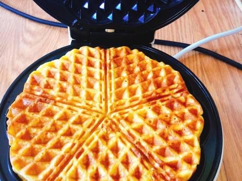 hoàn thành bánh Waffles  cách làm bánh waffles bí ngô Cách làm bánh Waffles bí ngô khởi động mùa lễ hội Halloween cach lam banh Waffles bi ngo 4