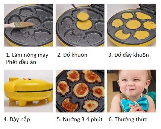 cách làm bánh bông lan hình thú 00 cách làm bánh bông lan Cách làm bánh bông lan hình thú ngộ nghĩnh bằng máy nướng cực đơn giản cach lam banh bong lan hinh thu 00