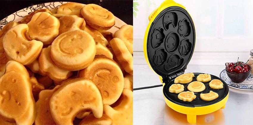 cách làm bánh bông lan hình thú 66 cách làm bánh waffles bí ngô Cách làm bánh Waffles bí ngô khởi động mùa lễ hội Halloween cach lam banh bong lan hinh thu 66 1