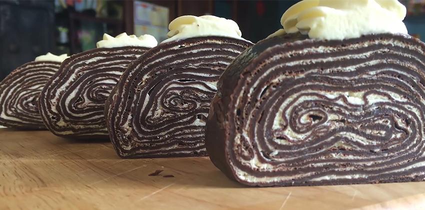 Cách làm bánh Crepe Socola 66 cách làm bánh crepe socola Cách làm bánh Crepe Socola ngàn lớp cuộn kem ngon mãn nhãn cach lam banh crepe phomai 66