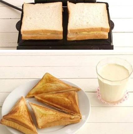 cách làm bánh mì sandwich 11 cách làm bánh mì sandwich Cách làm bánh mì sandwich bằng máy nướng siêu đơn giản cach lam banh mi sandwich 11
