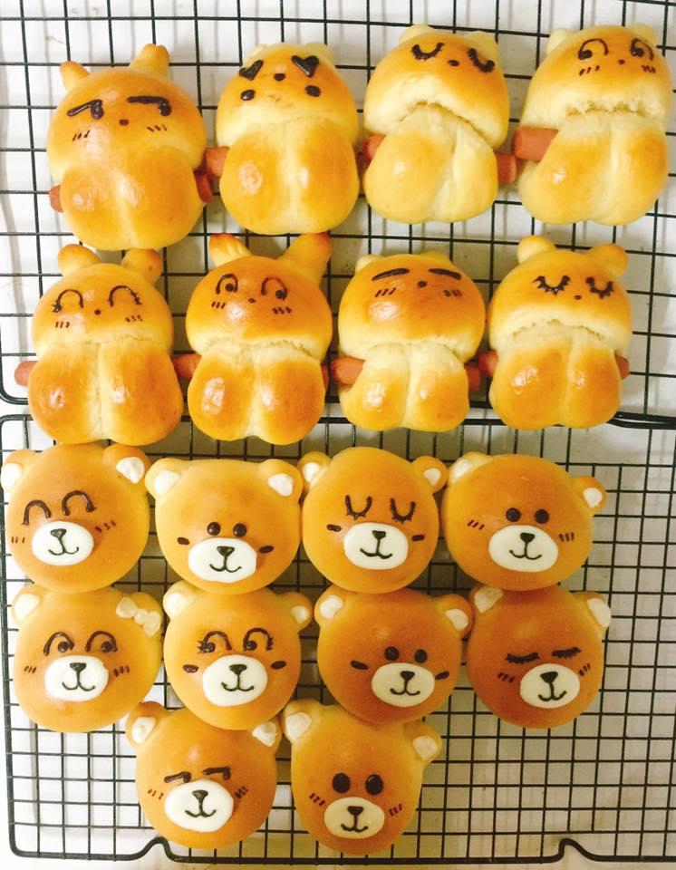 công thức bánh gấu thỏ 8 công thức bánh gấu thỏ Công thức bánh gấu thỏ dễ thương nhân custard nhìn muốn cưng luôn cong thuc banh gau tho 4