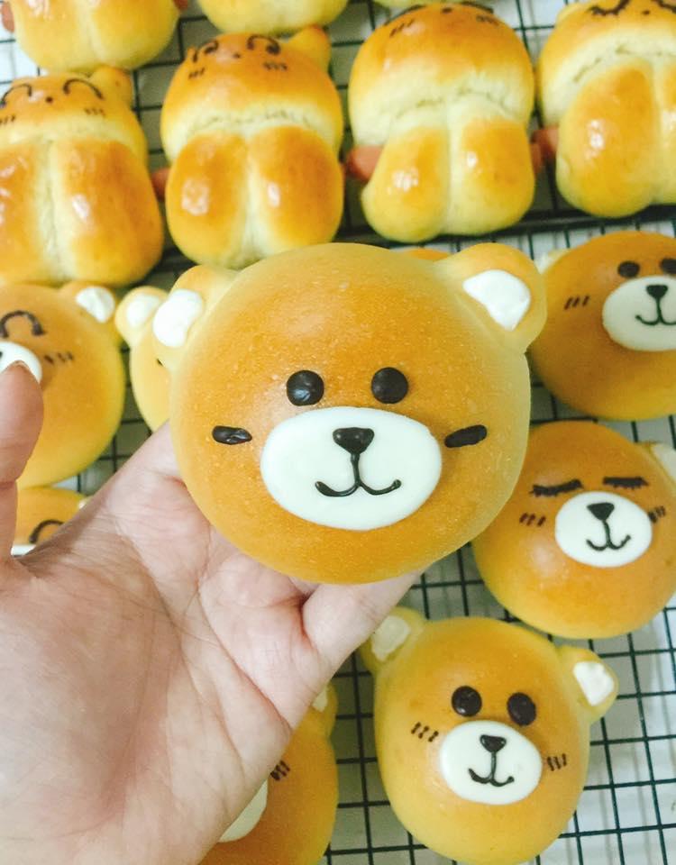công thức bánh gấu thỏ 8 công thức bánh gấu thỏ Công thức bánh gấu thỏ dễ thương nhân custard nhìn muốn cưng luôn cong thuc banh gau tho 6
