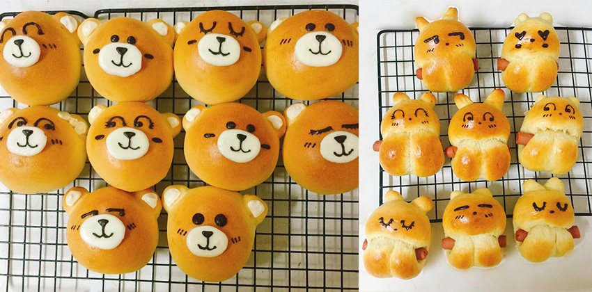 công thức bánh gấu thỏ 66 cách làm bánh madeleine Cách làm bánh Madeleine hình gấu thỏ Line xinh xắn dễ thương cong thuc banh gau tho 66 2