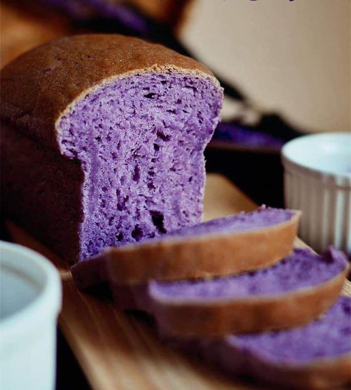 Bánh mì khoai tím 2 bánh mì khoai tím Bánh mì khoai tím mềm ẩm béo ngậy, ăn ngon không kiểm soát được banh mi khoai tim 2 copy