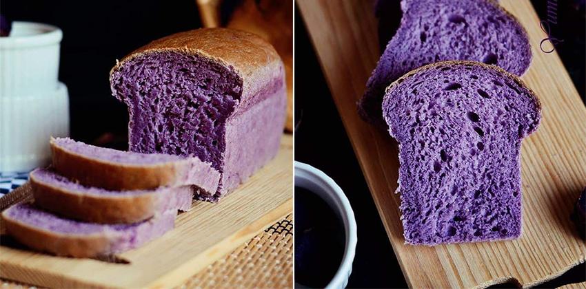 Bánh mì khoai tím 66 cách làm bánh mì ốc kem Cách làm bánh mì ốc kem căng múp, béo tròn ngon xuýt xoa banh mi khoai tim 66 1
