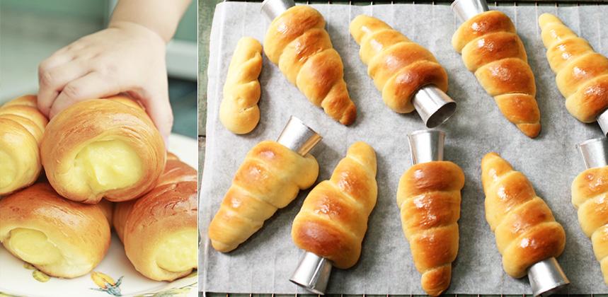 cách làm bánh mì ốc kem 66 cách làm bánh mì ốc kem Cách làm bánh mì ốc kem căng múp, béo tròn ngon xuýt xoa cach lam banh mi oc kem 66