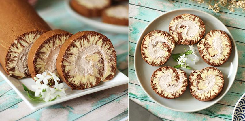 công thức làm bánh cuộn socola 66 công thức làm bánh cuộn socola Công thức làm bánh cuộn socola lốc xoáy xinh đẹp hết ý cong thuc lam banh cuon socola 66