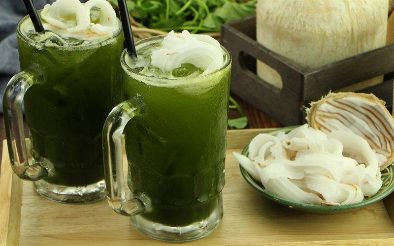 rau má sữa dừa Kinh doanh mùa hè với thức uống Rau má sữa dừa cực ngon, cực mát rau ma sua dua3
