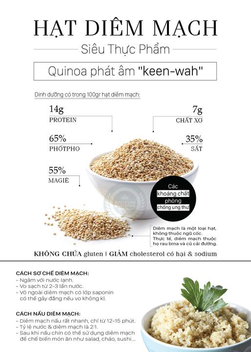 hạt diêm mạch quinoa hạt diêm mạch Tìm hiểu về lợi ích của loại hạt siêu thực phẩm – Hạt diêm mạch Quinoa hat diem mach 1
