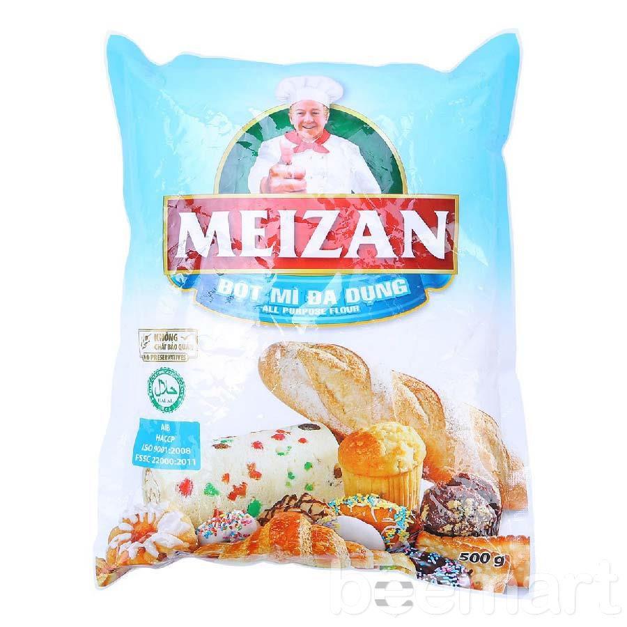 bot-mi-meizan bột mì làm bánh trung thu Chọn bột mì làm bánh trung thu như thế nào cho đúng? bot my meizan 500g