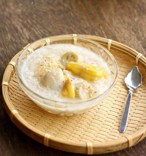 che-chuoi-khoai-lang chè chuối khoai lang Chè chuối khoai lang dẻo mềm cho ngày thu se se lạnh che chuoi khoai lang tim