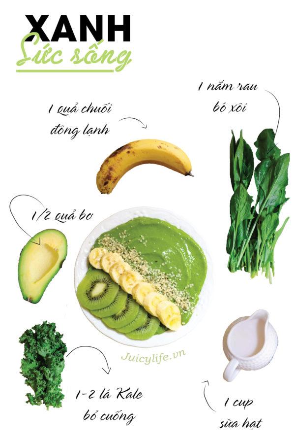 smoothie 7 công thức smoothie bowl nhanh gọn đủ chất siêu healthy (Phần 1) smoothies 03 e1564629308941