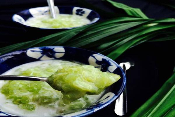che-bap-la-dua chè bắp lá dứa Cách nấu chè bắp lá dứa chuẩn vị ngoài hàng tung muong che sanh deo