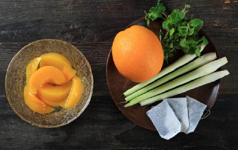 tra-dao-cam-sa trà đào cam sả Cách làm trà đào cam sả ngon mát trời hè 110