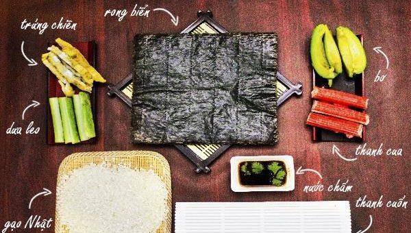 cach-lam-sushi cách làm sushi Cách làm sushi ngon nhất cùng thưởng thức cuối tuần cach lam sushi han quoc 3 e1568097094144
