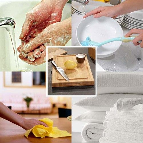 mẹo tẩy rửa đồ dùng nhà bếp
