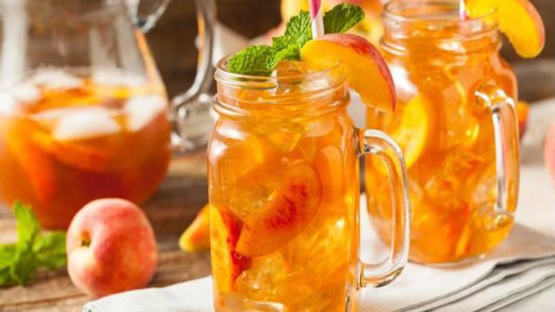 trà đào cam sả Cách làm trà đào cam sả ngon mát trời hè tra dao cam sa 1