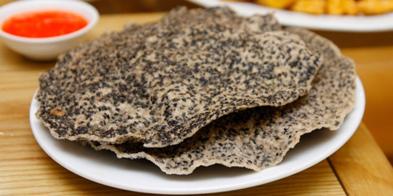 Bánh đa vừng bánh đa vừng Hướng dẫn cách làm bánh đa vừng bằng chảo chống dính cực đơn giản banh da vung