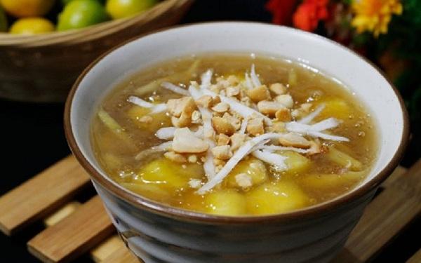 che-khoai-mi chè khoai mì Hướng dẫn cách nấu chè khoai mì dẻo ngọt cho ngày lạnh cach nau che khoai mi