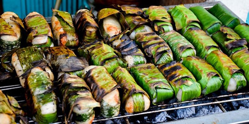 Chuối nướng chuối nướng nước cốt dừa Chuối nướng nước cốt dừa – thức ăn tuổi thơ của người Nam bộ chuoi nuong
