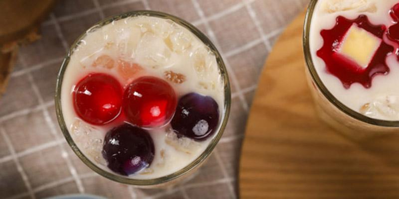 Trà sữa thạch phô mai trà sữa thạch phô mai Cách làm trà sữa thạch phô mai cực độc đáo, uống là mê thach bi vi trai cay