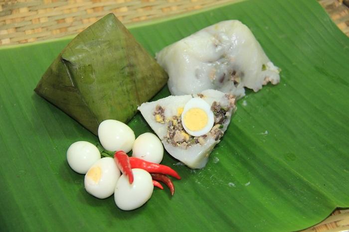 Bánh giò nhân trứng cút thơm ngon