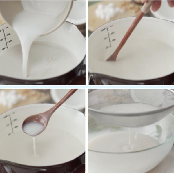Làm sữa dừa - nước dùng của dừa dầm sầu riêng