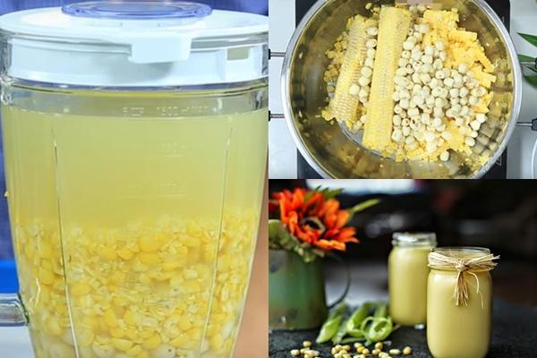 Hướng dẫn cách làm sữa ngô non hạt sen