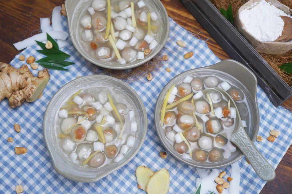 Cách nấu chè bột lọc nhân dừa siêu mát