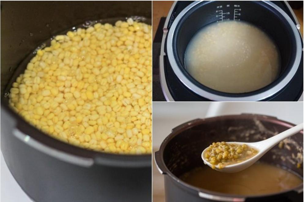 Nguyên liệu chuẩn bị cho cách nấu chè đậu xanh đánh truyền thống
