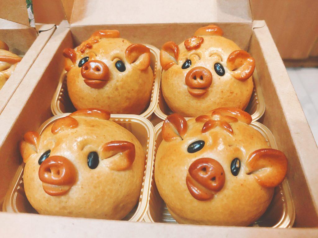 bánh hình con lợn tự làm ngộ nghĩnh, đáng yêu