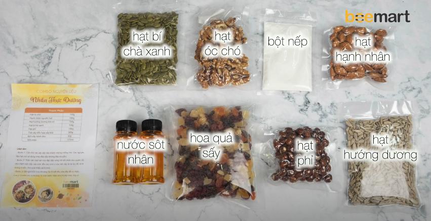 nguyên liệu bánh trung thu thực dưỡng