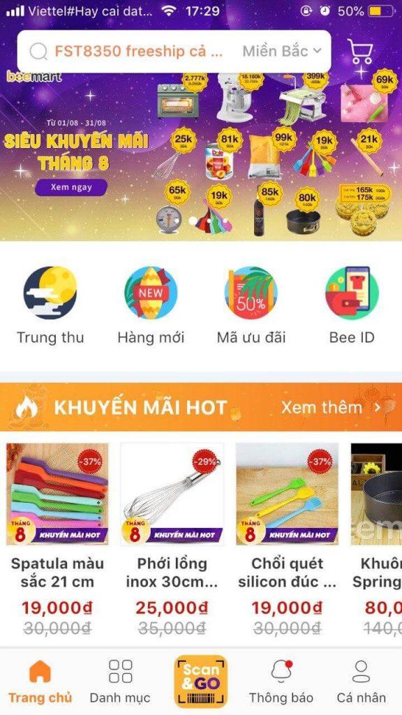 mở ứng dụng scan&go trên app Beemart tính năng mua sắm Hướng dẫn sử dụng tính năng mua sắm Scan & Go – Quét là có trên App Beemart huong dan su d   ng scango 576x1024