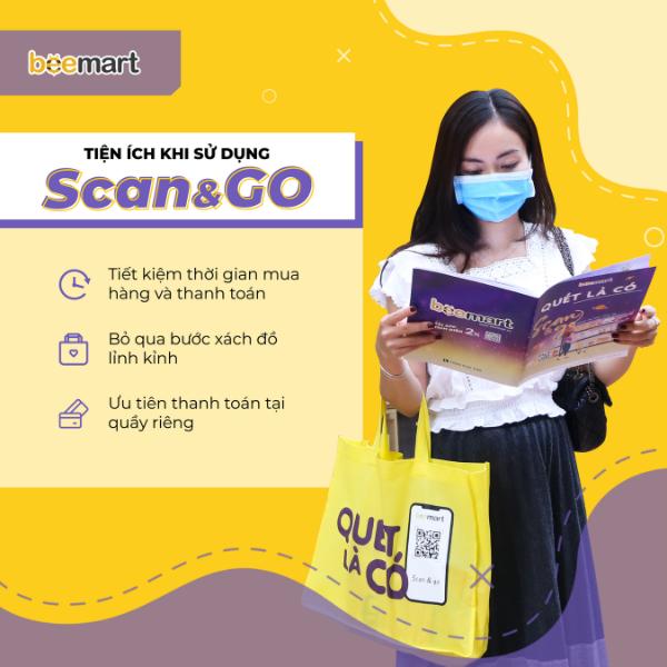 trải nghiệm scan&go tại Beemart tính năng mua sắm Hướng dẫn sử dụng tính năng mua sắm Scan & Go – Quét là có trên App Beemart huong dan su d   ng scango